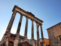 The Roman Forum, Rome, Italy. Ruins of the Roman Forum, Rome, Italy, photo was taken in February Royalty Free Stock Photos