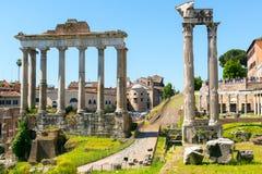 Roman Forum in Rome Stock Image