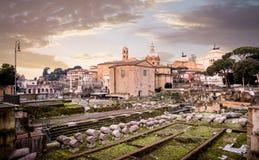 Roman forum in Rome Royalty Free Stock Image