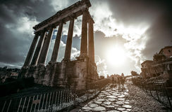 Roman forum. In Rome, Italy Royalty Free Stock Photo