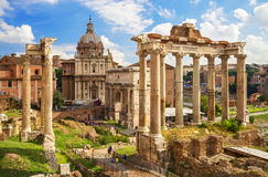 Roman Forum in Rome. Italy royalty free stock photo