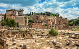 The Roman Forum in Rome. Stock Photography