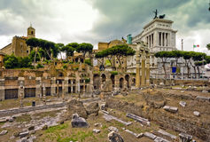 The Roman Forum in Rome,. Italy Royalty Free Stock Images