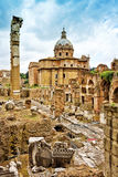 The Roman Forum in Rome, Royalty Free Stock Images
