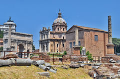Roman Forum Stock Images