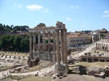 Roman forum. The Roman Forum in Rome, Italy Royalty Free Stock Images