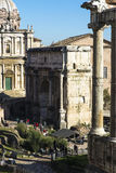 Roman Forum in Rome Royalty Free Stock Photography