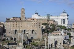 The roman forum rome Italy europe Stock Photography