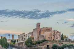 The Roman Forum in Rome, Italy. Royalty Free Stock Image