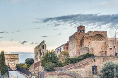 The Roman Forum in Rome, Italy. Royalty Free Stock Photography