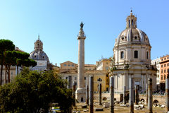 Roman Forum Rome Italy. ROME, ITALY JUNE, 28th: The ancient ruins of the Roman Forum in Rome, Italy on June 28th, 2015 Royalty Free Stock Photos