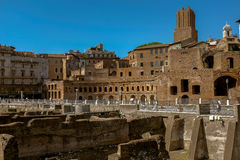 Roman Forum. ROME, ITALY JUNE, 28th: The ancient ruins of the Roman Forum in Rome, Italy on June 28th, 2015 Stock Image