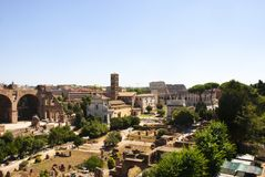 Roman Forum in Rome Stock Photography