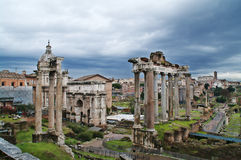 Roman Forum in Rome, Italy. Ruins of the Roman Forum in Rome, Italy royalty free stock photos