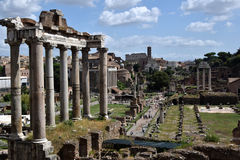 The Roman Forum in Rome Italy Stock Photography