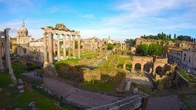 Roman Forum in Rome, Italy stock video footage