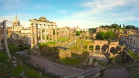 Roman Forum in Rome, Italy stock footage