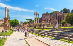 Roman Forum in Rome Stock Photos