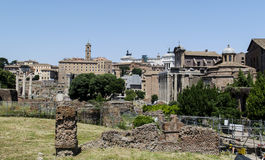 Roman Forum Rome-ruïnes Stock Foto's