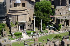 Roman Forum in Rome. Roman ruins in Rome, Italy Stock Photos