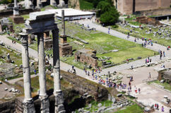 Roman Forum in Rome. Roman ruins in Rome, Italy Royalty Free Stock Images