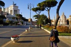 ROMAN FORUM, ROME`S HISTORIC CENTER, ITALY. Royalty Free Stock Photography