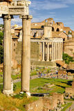 Roman Forum, Rome`s historic center, Italy. Royalty Free Stock Photos