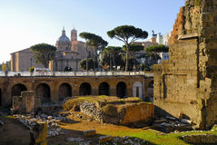 Roman Forum, Rome`s historic center, Italy. Royalty Free Stock Photos