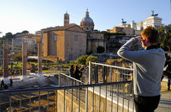 Roman Forum, Rome`s historic center, Italy. Royalty Free Stock Images