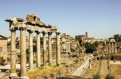 Roman Forum in Rome, Italy. Roman Forum in Rome on a sunny day, Italy royalty free stock images
