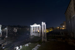 Roman Forum, rome, Temple of Vespasian Royalty Free Stock Photos