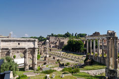 Roman forum ruines. Panoramic view from the Capitoline Stock Image