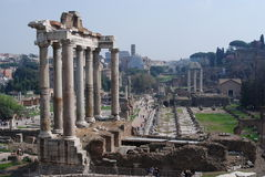 Roman Forum ruins. The new works on the Roman Forum ruins in Rome Stock Image