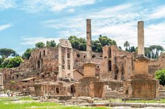 Roman Forum. Ruins Roman Forum in The Ancient Part of Roma Stock Photography