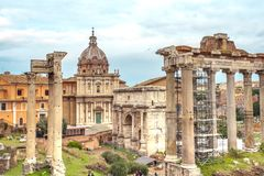 The Roman  Forum ruins archaeological museum Rome Italy  capitol. The Roman  Forum ruins archaeological museum Education Architecture Art History Rome Italy the Stock Photography