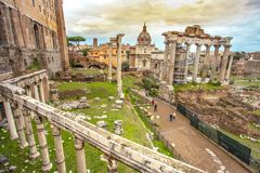 The Roman  Forum ruins archaeological museum Rome Italy  capitol. The Roman  Forum ruins archaeological museum Education Architecture Art History Rome Italy the Royalty Free Stock Image