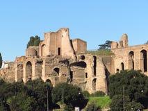 Roman Forum. Ruins of the Roman forum, Domus Severiana, Rome, Italy Stock Image