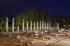Roman Forum Ruins i Aquileia arkivfoton