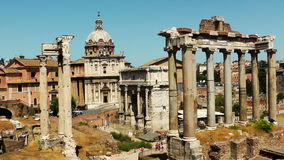 Roman Forum stock video footage