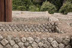 Roman Forum ruins. The new works on the Roman Forum ruins in Rome Stock Photos