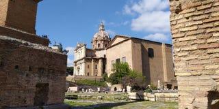 Roman Forum Ruins på Roma, Italien royaltyfri foto