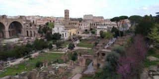 Roman Forum Ruins på Roma, Italien royaltyfri bild
