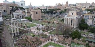 Roman Forum Ruins på Roma, Italien royaltyfri fotografi