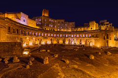 Roman forum ruins in Rome Italy. Architecture background Stock Images