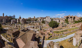 Roman forum ruins in Rome Italy. Architecture background Stock Image