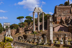 Roman forum ruins in Rome Italy. Architecture background Stock Photography
