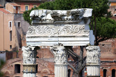 The Roman Forum ruins in Rome, Italy Royalty Free Stock Photos