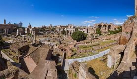 Roman forum ruins in Rome Italy. Architecture background Royalty Free Stock Images