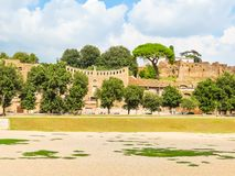 Roman Forum. Ruins of times of the Roman Empire. Panorama of the Roman Forum. Ruins of times of the Roman Empire. Rome, Italy Stock Photography