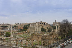 Roman forum scenic view royalty free stock images